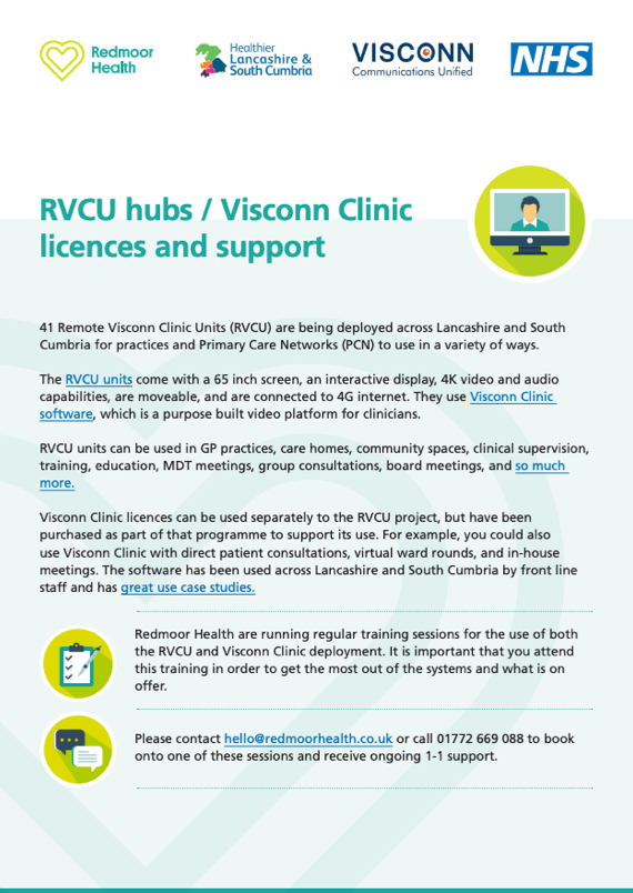 RVCU hubs / Visconn Clinic licences and support